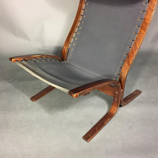 "Ingmar Relling ""Siesta"" Lounge Chair + Ottoman, Norway 1960s For Sale - Image 11 of 12"