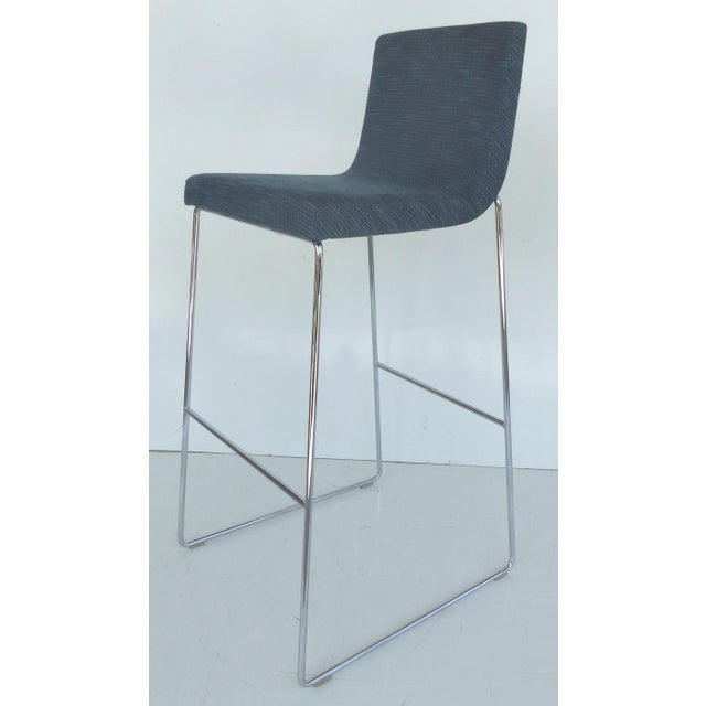 Kitchen Bar Stools For Sale In Ireland: Contemporary Stainless Steel Upholstered Bar Stools