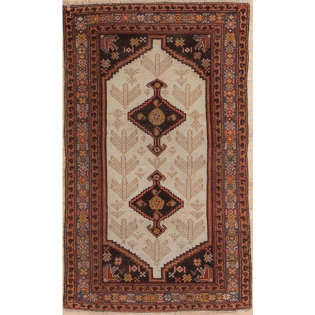 Red Early 20th Century Antique Malayer Village Rug - 3′6″ × 5′11″ For Sale - Image 8 of 8