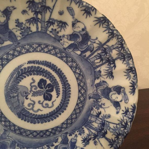 Antique Chinese Blue & White Export Porcelain Side Plate - Image 3 of 6