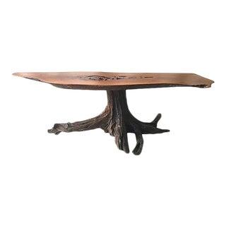 Wood Slice Coffee Table, Midcentury For Sale