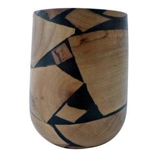 Organic Wood Turned Bud Vase