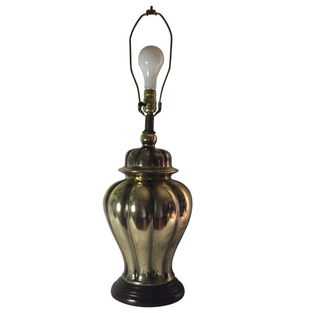 Large Brass Urn Table Lamp For Sale