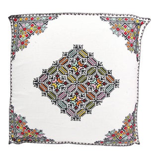 Moroccan Square Handmade Floor Pouf For Sale