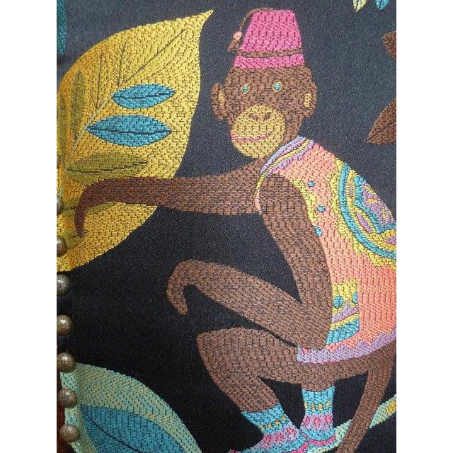 1920s Americana Children's Silk Velvet Chenille Wooden Rocker For Sale In Los Angeles - Image 6 of 8