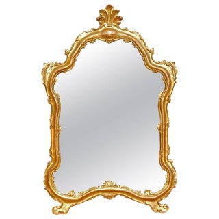 Italian Gilt Carved Wood Mirror For Sale