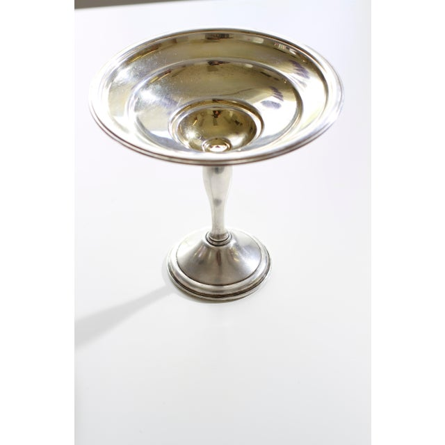 This is a wonderful weighted sterling silver pedestal serving piece. Perfect for all sorts of sauces, dips, etc. It was...