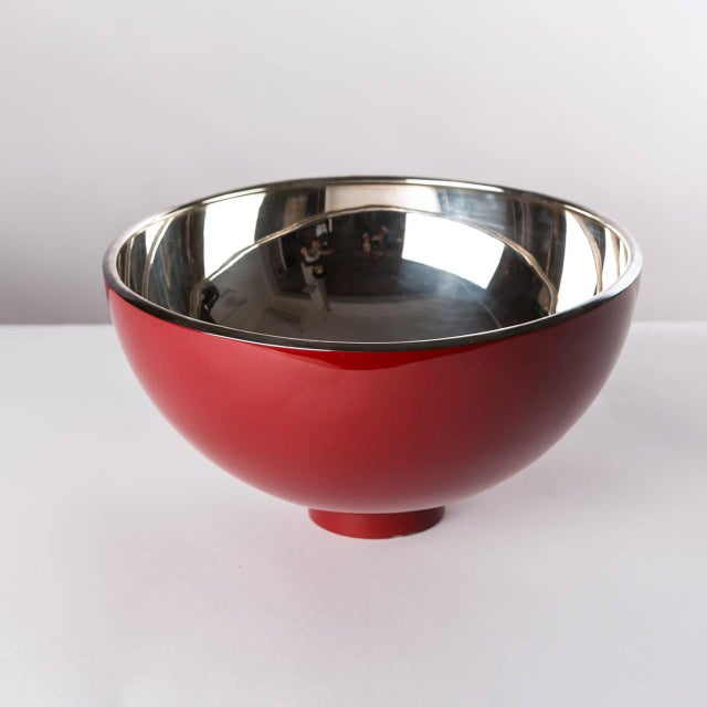 """""""Kon Kao"""" bowl by Lino Sabattini. This silver plated and enameled piece shows timeless attitude. Also available another..."""