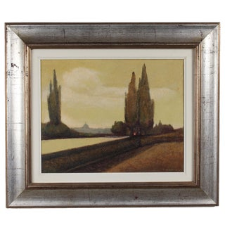 Vintage Oil Painting of Rome Scene by Paolo Signoroni For Sale