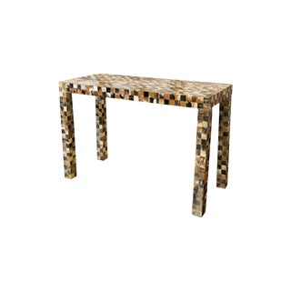 Horn Inlaid Console Table For Sale