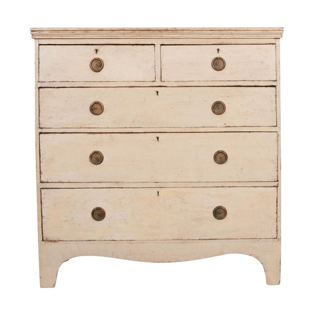 20th Century English Edwardian Painted Chest For Sale
