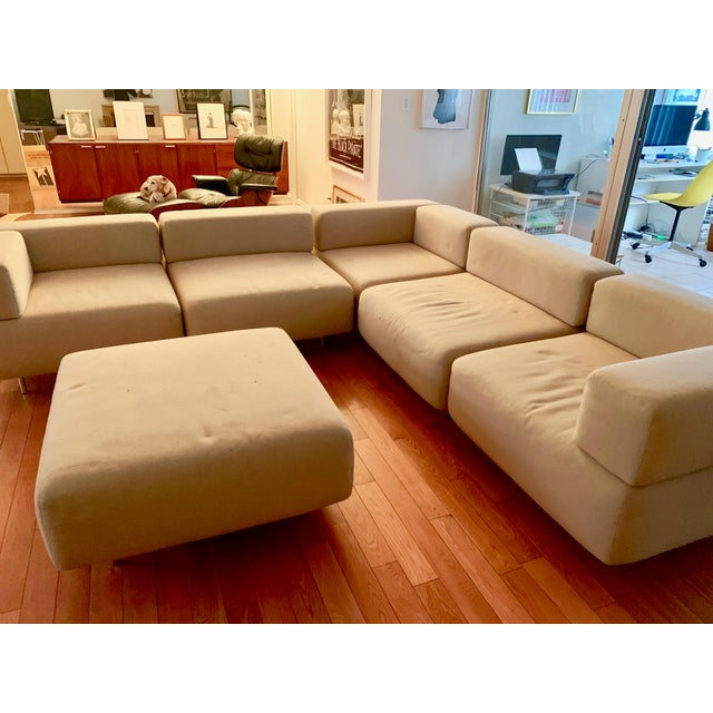 1970s 1970s Vintage Harvey Probber 7-Piece Beige Cubo Sectional For Sale - Image 5 of 12