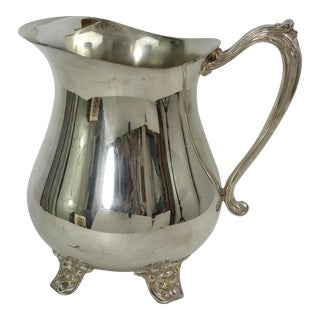 Vintage Sheridan Silver Plate Water Pitcher