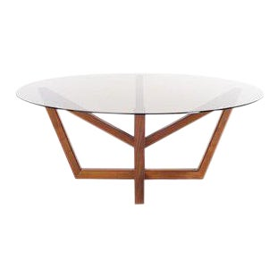 Holly Hunt Modern Obelisk Walnut Dining Table For Sale