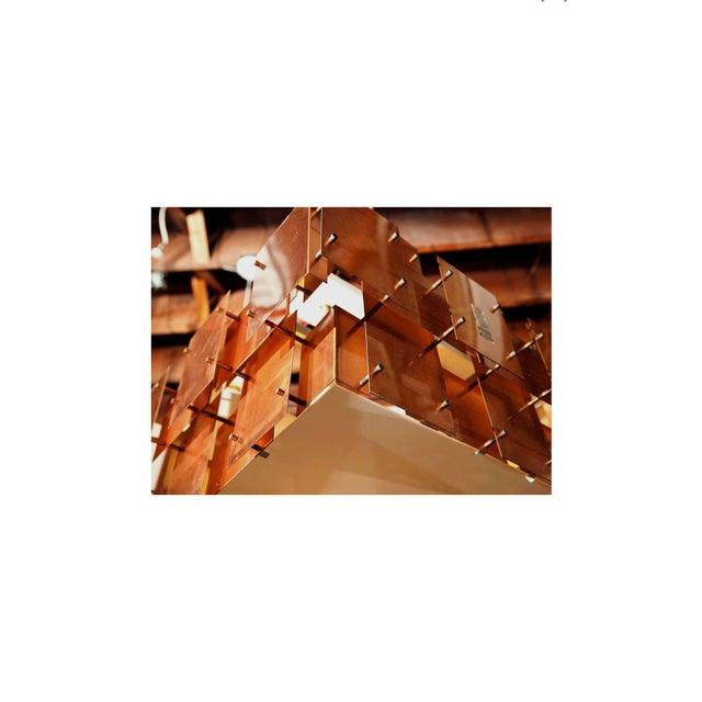 Metal Robert Sonneman Copper Chandelier For Sale - Image 7 of 8