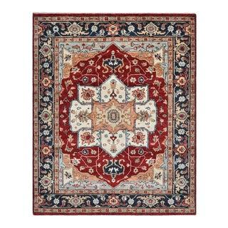 "Samir, Traditional Red 9' 0"" x 12' 0"" Handmade Area Rug For Sale"