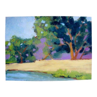 Lake Herman Benicia Contemporary Plein Air Painting For Sale