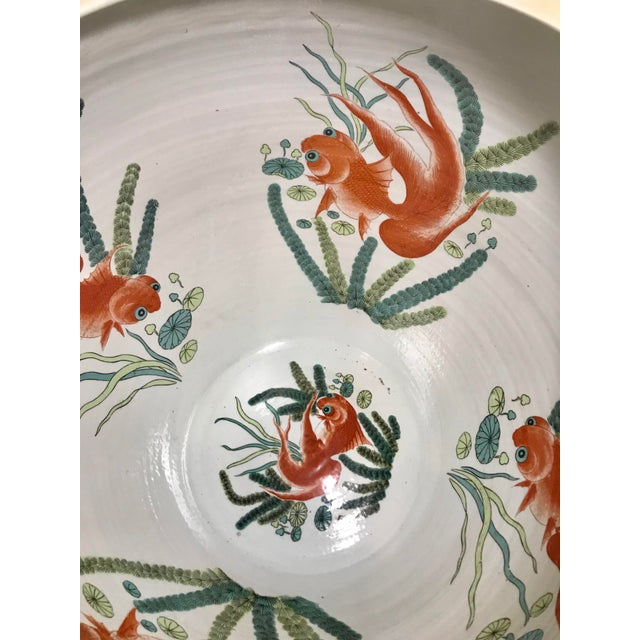 20th Century Chinese Qing Famille Verte Porcelain Jardinieres / Planters - a Pair For Sale - Image 12 of 13