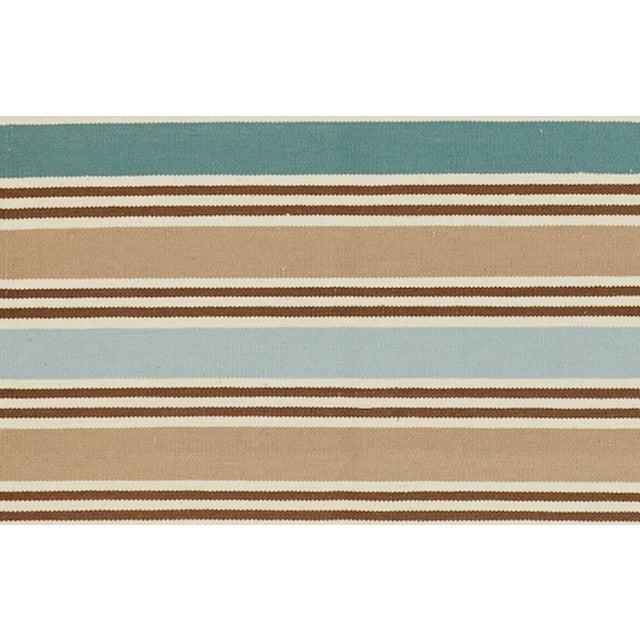 Schumacher Schumacher Patterson Flynn Martin Bosun Stripe Hand Woven Wool Modern Rug For Sale - Image 4 of 5