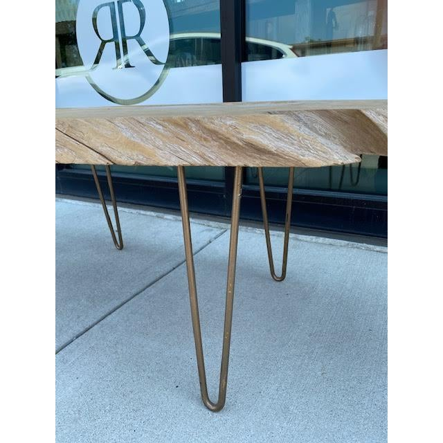 Vintage Live Edge Coffee Table For Sale In Nashville - Image 6 of 8