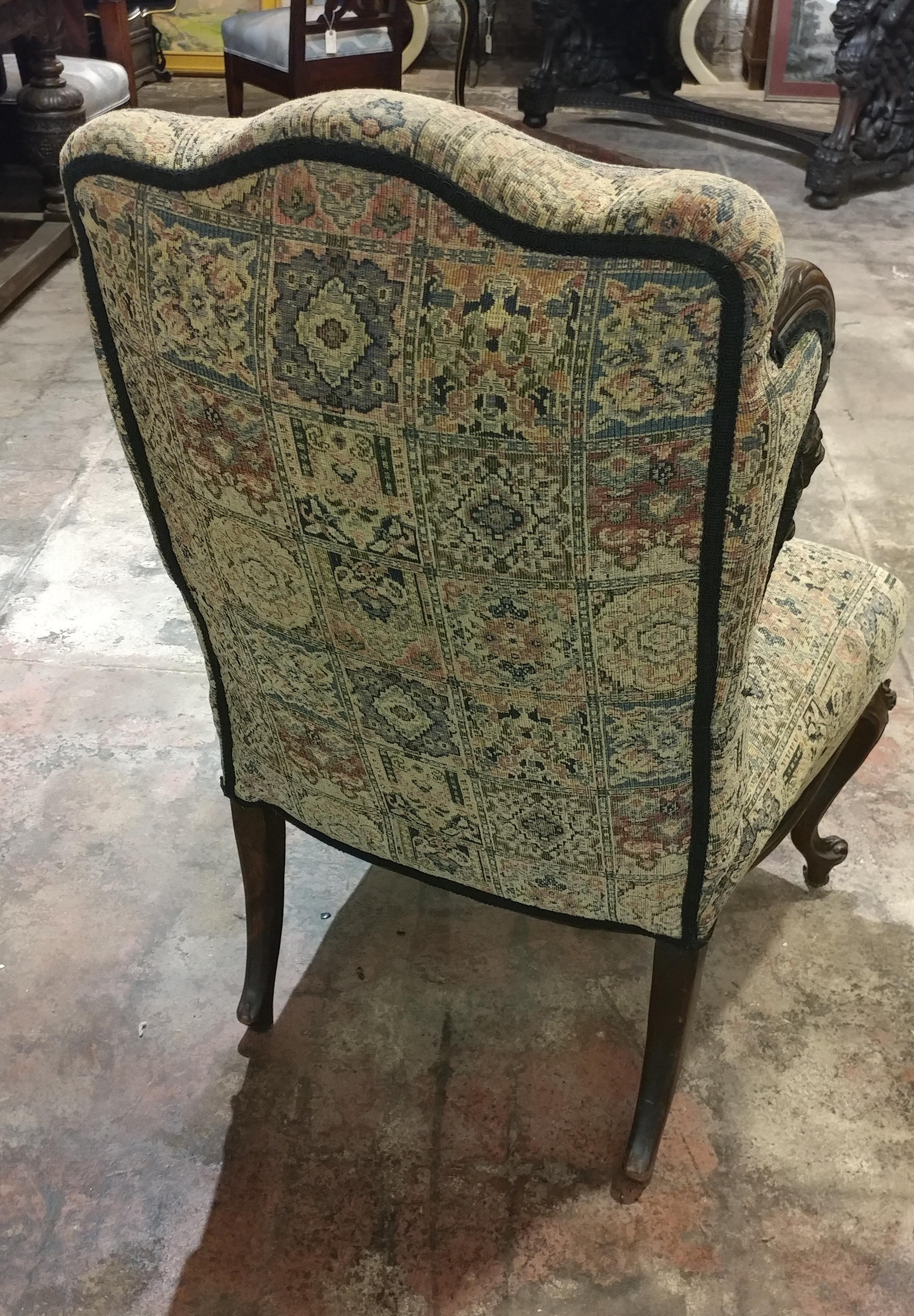 19th Century Victorian Tapestry Chairs   A Pair