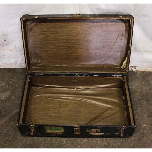Antique Trunk With Bronze Hardware For Sale - Image 5 of 9