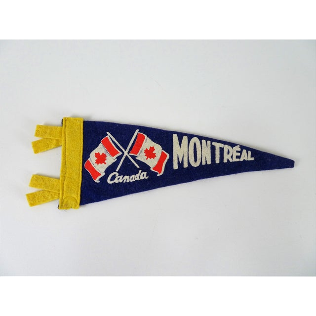 Vintage Mid-Century Montreal Canada Felt Flag For Sale - Image 10 of 10