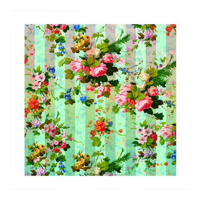 Antique 'French Wallpaper' Archival Print For Sale