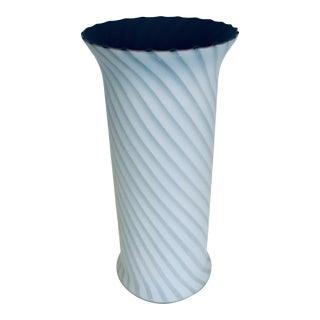 1960s Venini Italian Murano Glass Vase For Sale