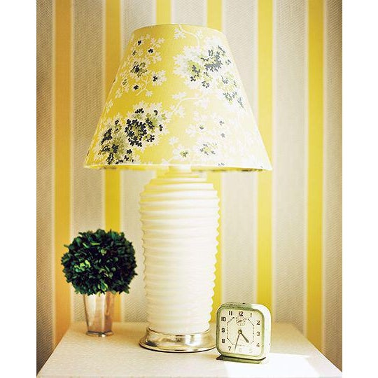 Custom Lampshades in Tilton Fenwick Fabric - a Pair - Image 3 of 5