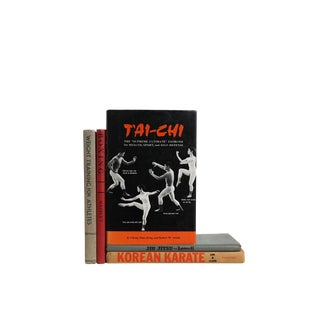 Vintage Decorative Book Gift Set: Boxing, Tai Chi and More For Sale