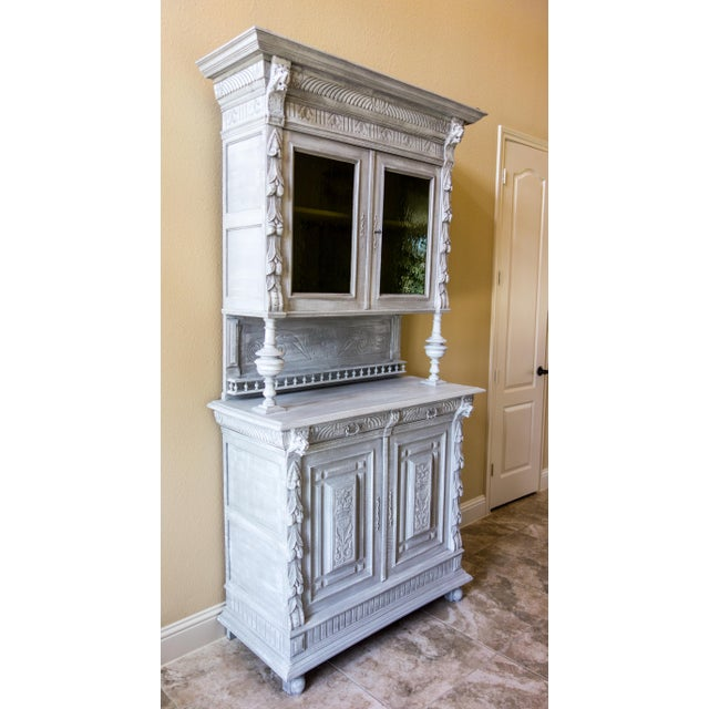 Renaissance Revival Painted Carved Sideboard - Image 3 of 11