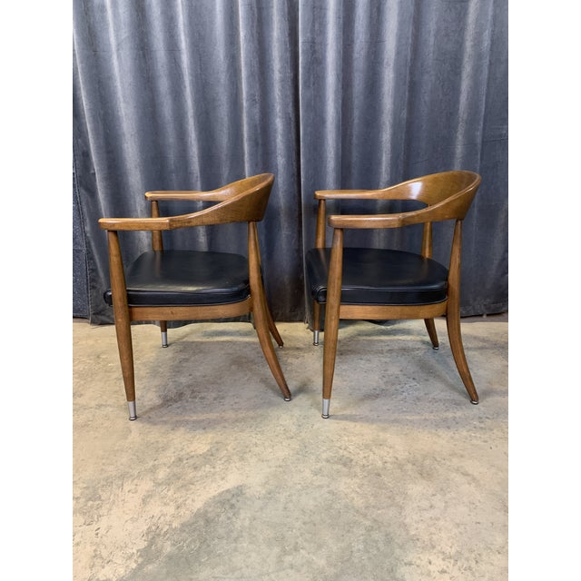 Set of two midcentury modern chairs by the Boling Chair company in Siler City, North Carolina. Exceptional Mid-Century...
