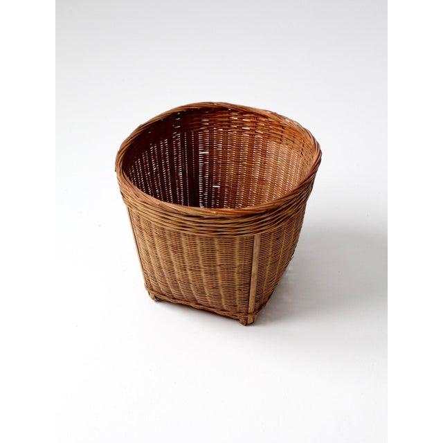 Vintage Woven Reed Basket - Image 9 of 10