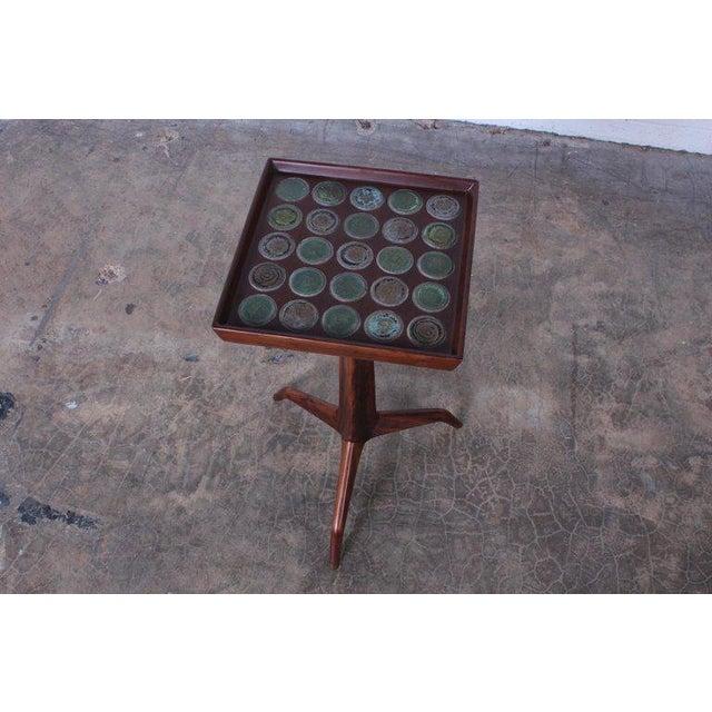 Edward Wormley Dunbar Janus Side Table With Natzler Tiles For Sale - Image 11 of 13