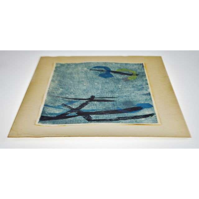 Vintage Libby Newman Oriental Mood II Artist Proof Woodcut - Pencil Signed For Sale - Image 10 of 13