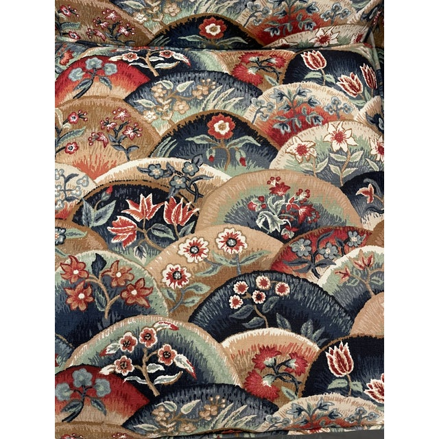 Traditional 1990s Vintage Patterned Club Chair For Sale - Image 3 of 11