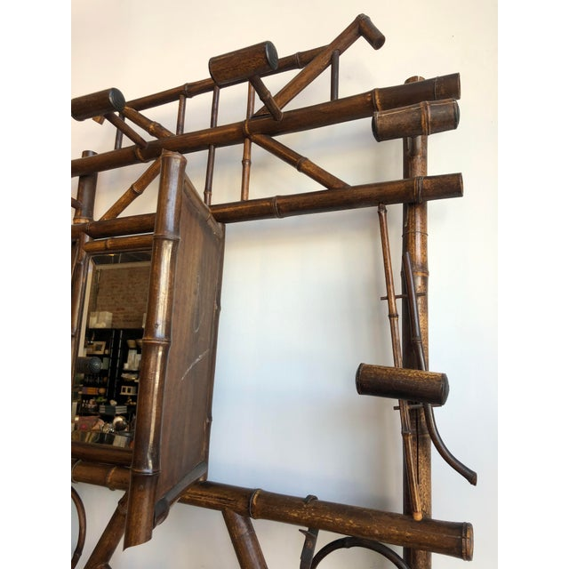 Chinoiserie Antique English Bamboo Hall Stand For Sale - Image 3 of 11