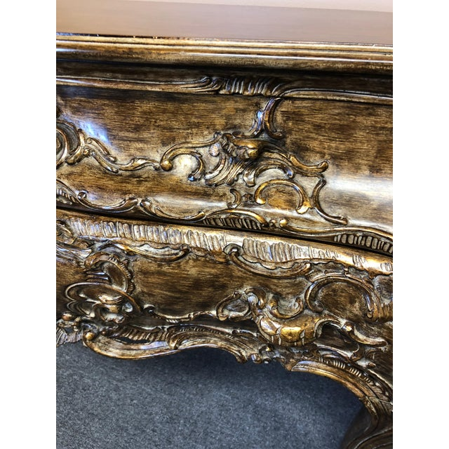 Italian Carved Giltwood Bombay Chest Commode For Sale - Image 9 of 13