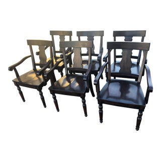 Pottery Barn Dining Chairs - Set of 6 For Sale