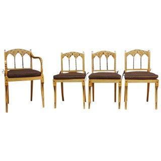English Regency Moorish Style Chairs - Set of 4