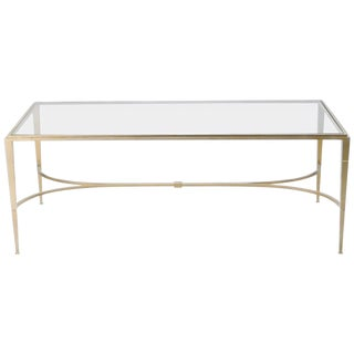 Maison Ramsay Gilt Wrought Iron Coffee Table, 1960s For Sale