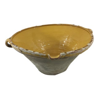 19th Century Fnrech Glazed Terra Cotta Bowl