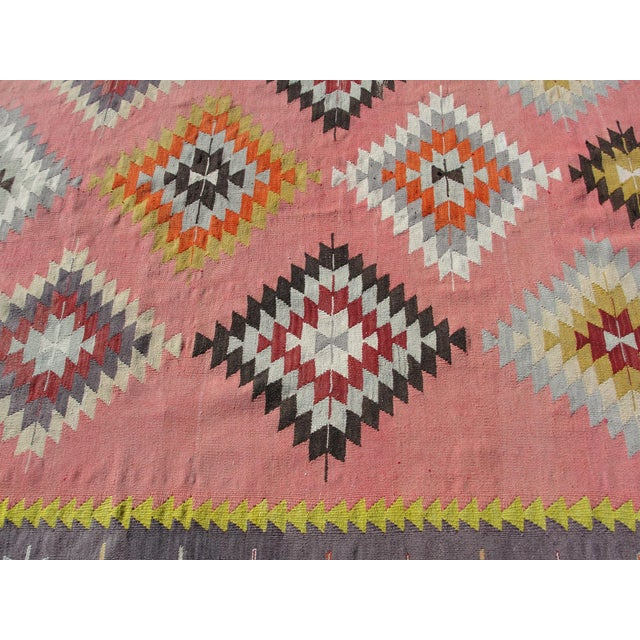 Vintage Turkish Kilim Rug - 6′5″ × 8′9″ For Sale - Image 7 of 11
