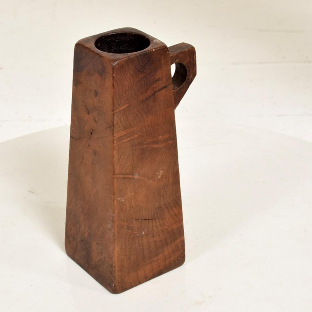 Mid-Century Modern Burl Wood Craftsmanship Candle Holder For Sale In San Diego - Image 6 of 9