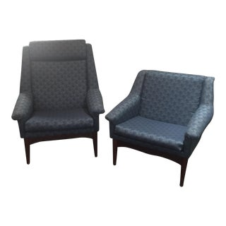 Bramin Danish Modern Lounge Chairs - a Pair