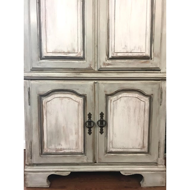 Distressed Shabby Chic Armoire - Image 5 of 11