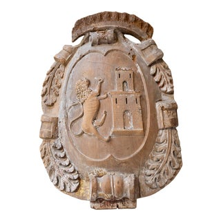 19th Century Wooden Bourbon Family Coat of Arms For Sale