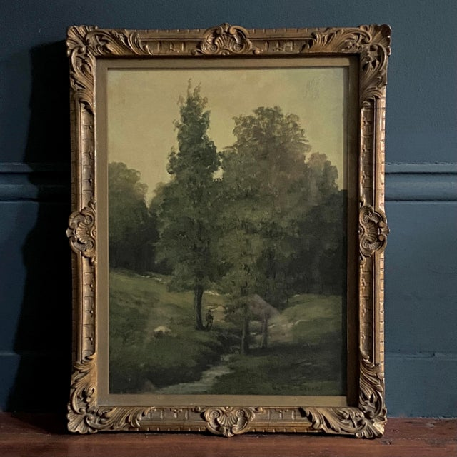 Late 19th Century Landscape Oil Painting by George A. Traver, Framed For Sale In Philadelphia - Image 6 of 6