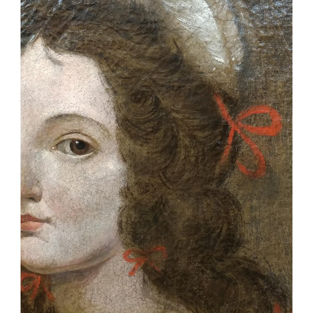 17th century Old Master-Portrait of a Elegant Woman- Oil painting For Sale In Los Angeles - Image 6 of 10